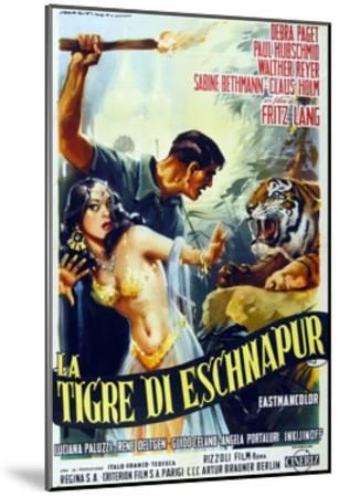 The Tiger of Eschnapur, (AKA Der Tiger Von Eschnapur), Italian Poster Art, 1959--Mounted Giclee Print