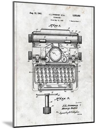 Typewriter-Patent-Mounted Art Print
