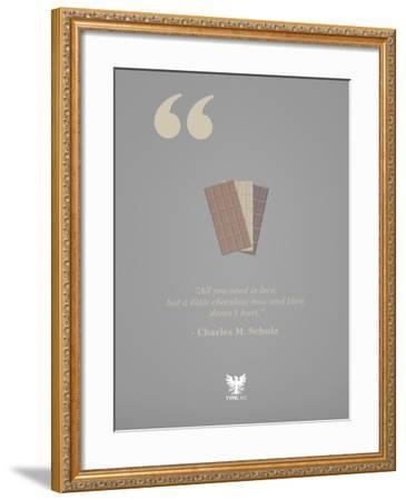 Charles M. Schulz-TypeLike-Framed Art Print