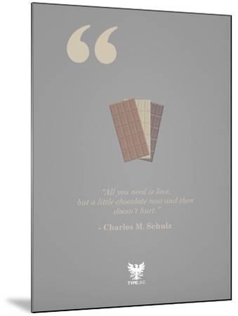 Charles M. Schulz-TypeLike-Mounted Art Print