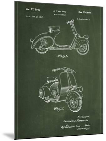 Vespa-Patent-Mounted Art Print