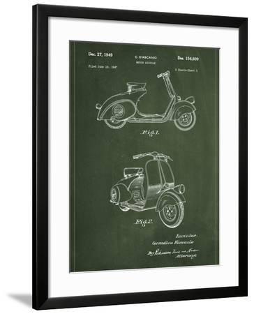 Vespa-Patent-Framed Art Print