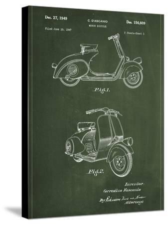 Vespa-Patent-Stretched Canvas Print