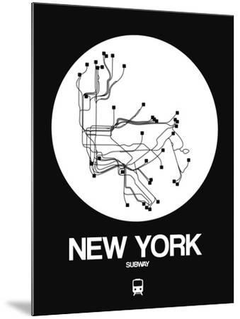 New York White Subway Map-NaxArt-Mounted Art Print