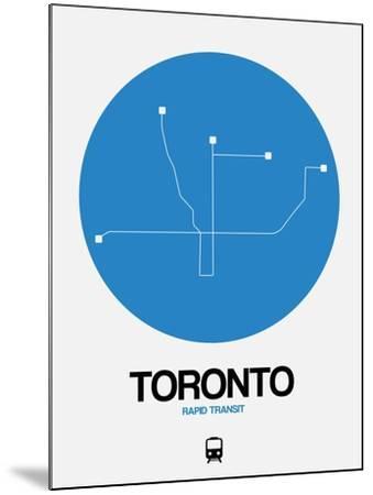 Toronto Blue Subway Map-NaxArt-Mounted Art Print