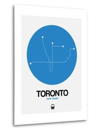 Toronto Blue Subway Map-NaxArt-Metal Print
