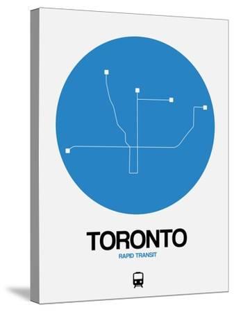 Toronto Blue Subway Map-NaxArt-Stretched Canvas Print