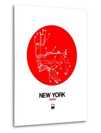 New York Subway Map Red.New York Red Subway Map Art Print By Naxart Art Com