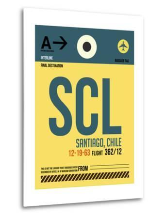 SCL Santiago Luggage Tag II-NaxArt-Metal Print