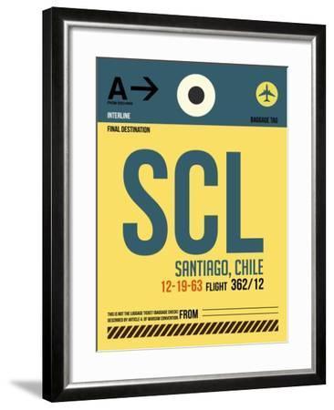 SCL Santiago Luggage Tag II-NaxArt-Framed Art Print