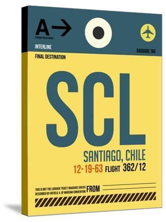 SCL Santiago Luggage Tag II-NaxArt-Stretched Canvas Print