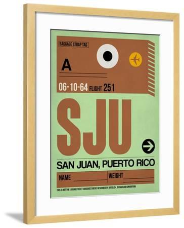 SJU San Juan Luggage Tag I-NaxArt-Framed Art Print