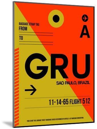 GRU Sao Paulo Luggage Tag II-NaxArt-Mounted Art Print