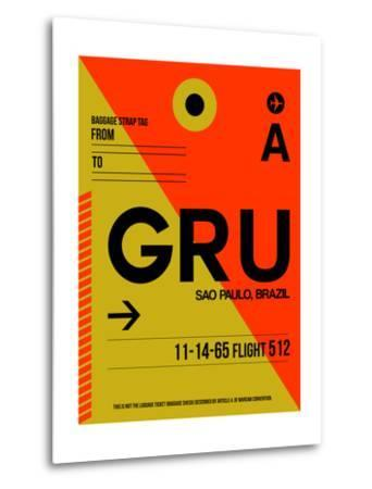 GRU Sao Paulo Luggage Tag II-NaxArt-Metal Print