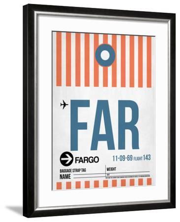 FAR Fargo Luggage Tag II-NaxArt-Framed Art Print