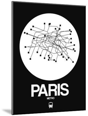 Paris White Subway Map-NaxArt-Mounted Art Print