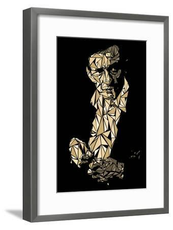 Johnny Cash-Cristian Mielu-Framed Art Print