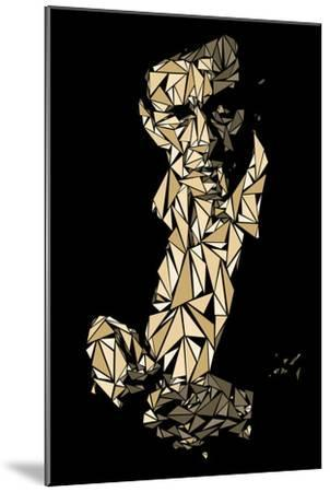 Johnny Cash-Cristian Mielu-Mounted Art Print