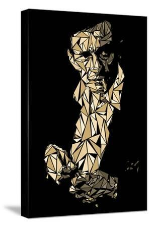 Johnny Cash-Cristian Mielu-Stretched Canvas Print