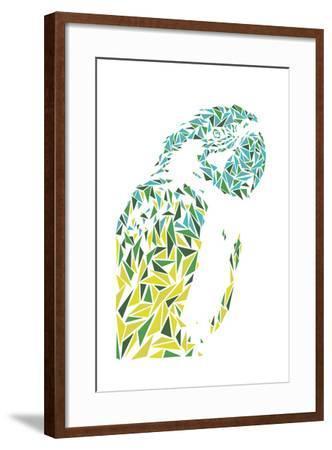 Ara Parrot-Cristian Mielu-Framed Art Print