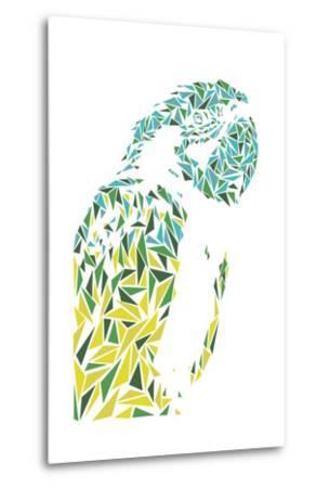 Ara Parrot-Cristian Mielu-Metal Print