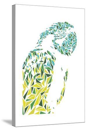 Ara Parrot-Cristian Mielu-Stretched Canvas Print