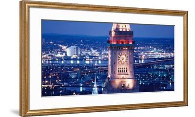 Clock Tower of the Custom House, Boston, Suffolk County, Massachusetts, USA--Framed Premium Photographic Print