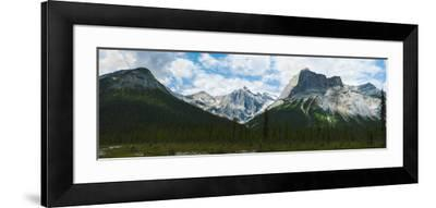 Clouds over Mountains, Emerald Peak, Yoho National Park, Golden, British Columbia, Canada--Framed Photographic Print