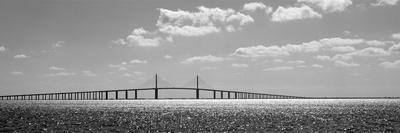 Bridge across a Bay, Sunshine Skyway Bridge, Tampa Bay, Florida, USA--Photographic Print