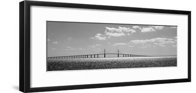 Bridge across a Bay, Sunshine Skyway Bridge, Tampa Bay, Florida, USA--Framed Photographic Print