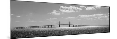 Bridge across a Bay, Sunshine Skyway Bridge, Tampa Bay, Florida, USA--Mounted Photographic Print