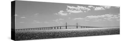 Bridge across a Bay, Sunshine Skyway Bridge, Tampa Bay, Florida, USA--Stretched Canvas Print