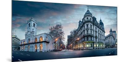 Buenos Aires Cabildo on Plaza De Mayo at Dusk, Buenos Aires, Argentina--Mounted Premium Photographic Print