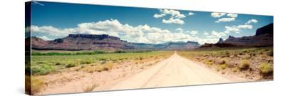 Dirt Road Passing Through a Landscape, Onion Creek, Moab, Utah, USA--Stretched Canvas Print