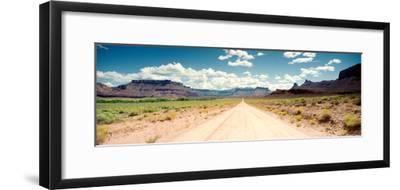 Dirt Road Passing Through a Landscape, Onion Creek, Moab, Utah, USA--Framed Photographic Print