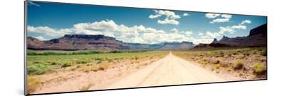 Dirt Road Passing Through a Landscape, Onion Creek, Moab, Utah, USA--Mounted Photographic Print