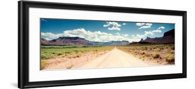 Dirt Road Passing Through a Landscape, Onion Creek, Moab, Utah, USA--Framed Photographic Print