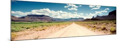 Dirt Road Passing Through a Landscape, Onion Creek, Moab, Utah, USA--Mounted Photographic Print