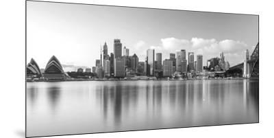 Sydney Harbour Bridge and Skylines at Dusk, Sydney, New South Wales, Australia--Mounted Premium Photographic Print