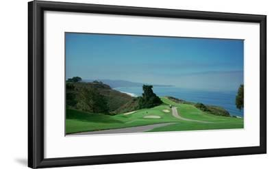 Golf Course at the Coast, Torrey Pines Golf Course, San Diego, California, USA--Framed Photographic Print