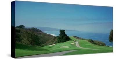 Golf Course at the Coast, Torrey Pines Golf Course, San Diego, California, USA--Stretched Canvas Print