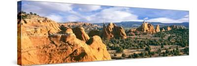 Rock Formations on a Landscape, Kodachrome Basin State Park, Utah, USA--Stretched Canvas Print