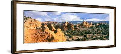 Rock Formations on a Landscape, Kodachrome Basin State Park, Utah, USA--Framed Photographic Print