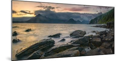 Rocky Coast of Loch Scavaig with Cuillin Mountains at Sunset, Isle of Skye, Scotland--Mounted Photographic Print