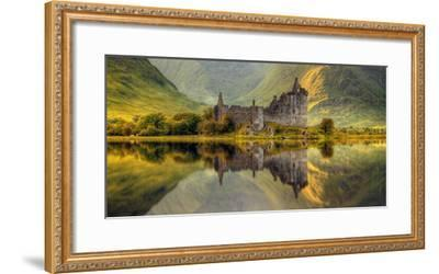 Kilchurn Castle Reflection in Loch Awe, Argyll and Bute, Scottish Highlands, Scotland--Framed Photographic Print