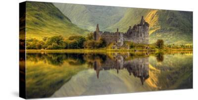 Kilchurn Castle Reflection in Loch Awe, Argyll and Bute, Scottish Highlands, Scotland--Stretched Canvas Print