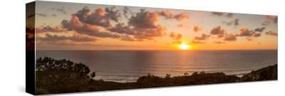 Sunset over the Pacific Ocean, Torrey Pines State Natural Reserve, San Diego, San Diego County--Stretched Canvas Print