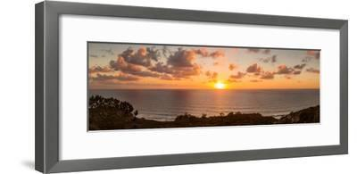 Sunset over the Pacific Ocean, Torrey Pines State Natural Reserve, San Diego, San Diego County--Framed Photographic Print
