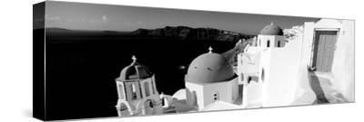 Church in a City, Santorini, Cyclades Islands, Greece--Stretched Canvas Print