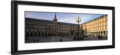 Tourists in the Courtyard of a Building, Plaza Mayor, Madrid, Spain--Framed Photographic Print